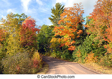 Any October - Quiet backroad in upper penninsula, michigan...