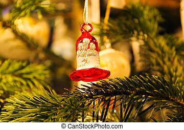 Bell decorated Christmas - Bell red and white to decorate...