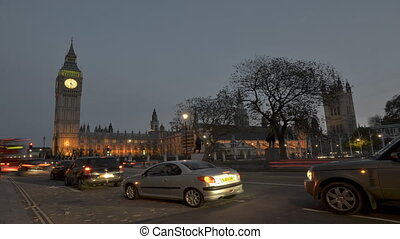 Time lapse Big Ben and Westminster - Time lapse of the...