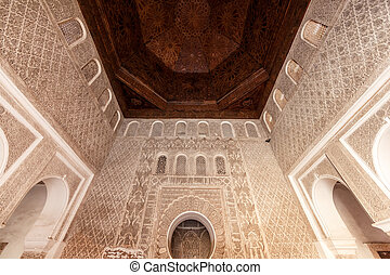 Madrasa Ben Youssef, Marrakech, Morocco. This Madrasa was an...