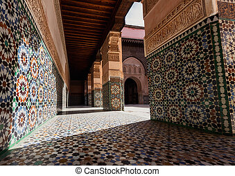 Madrasa Ben Youssef, Marrakech, Morocco This Madrasa was an...