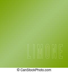 palavra, limone, escrito, ligado, verde, backgr,