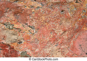 Red stone - Full frame take of a weathred ocher sandstone