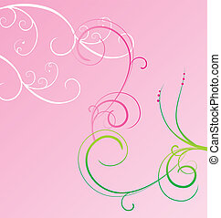 pink vector flourishes background