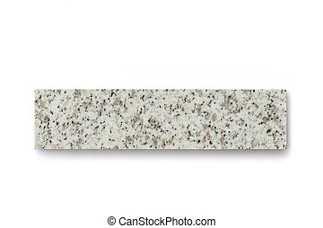 Piece of granire stone isolated on white background