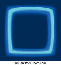 Square frame with glowing light - Blank template glowing...