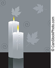 candles  - Illustration of two candles lighted