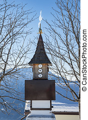 Barometer - a barometer in the alps