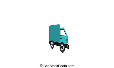 Transportation icon design, Video Animation HD1080