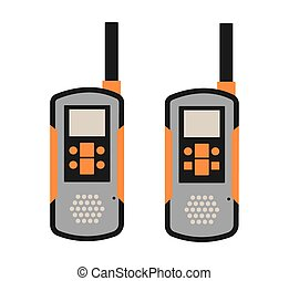 Portable radio transmitter on a white background vector...