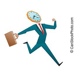 Businessman watch head vector illustration Time business...