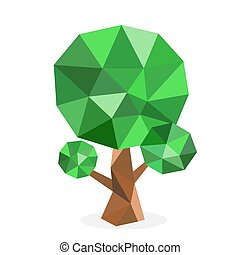 Stylized vector tree collection. Vector tree flat silhouette...