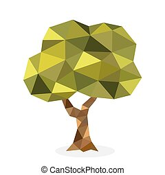 Stylized vector tree collection Vector tree flat silhouette...