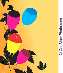 balloons with leafs