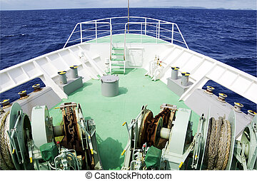Bow of a ship - From the bow of a ship on the ocean