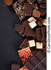 chocolate background with copy spase