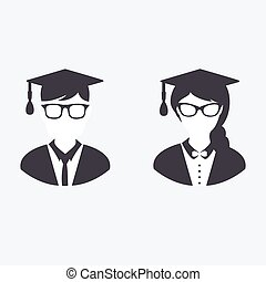 Graduation icons - Vector Graduation Icon