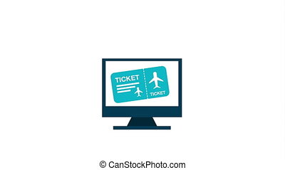 Ticket concept design, Video Animation HD1080