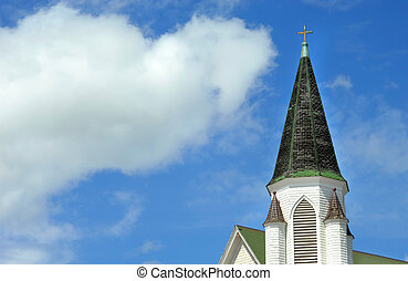 Architecture of Historic Church - Background image shows...