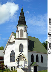 Church of Christ in Michigan - Green roofed Church of...