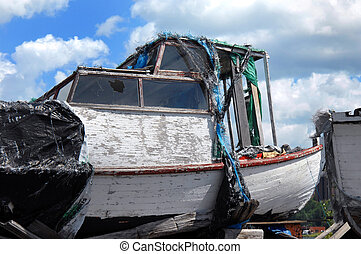 Retired from Service - Old boat sits exposed to the elements...