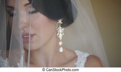 Bride Covered With Veil - beautiful bride covered with veil