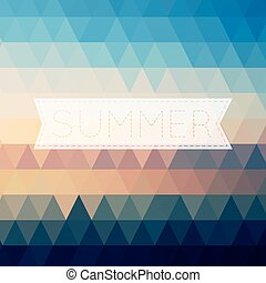 Vintage summer poster, sun rope frame. Vector file layered for easy editing.