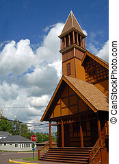 Belfry in Victorian Church - Historic, First Congregational...