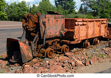 Copper Ore Loader - Rusting ore loader, sits on section of...