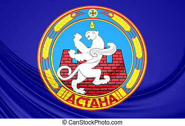 Flag of Astana, Kazakhstan - 3D Flag of Astana, Kazakhstan...