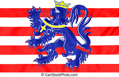 Flag of Bruges, Belgium. - 3D Flag of Bruges, Belgium. Close...