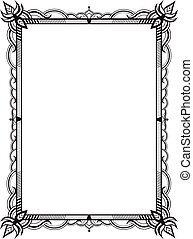 The frame of the elements of abstract lace. Perfect cards...