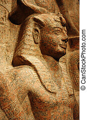 Statue of Ramesses II with Amun and Hathor - Ramesesses...