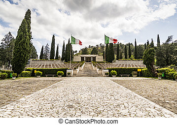 Monument of the Italian soldiers died in Mignano Montelungo...