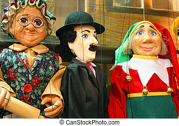 Traditional puppets - three figures - Traditional puppets...