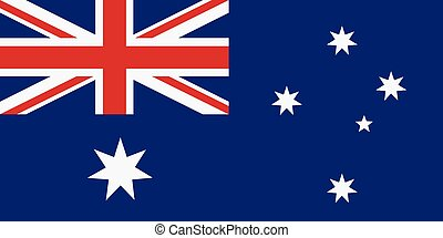 Rectangular Australia flag - Vector illustration flag of...