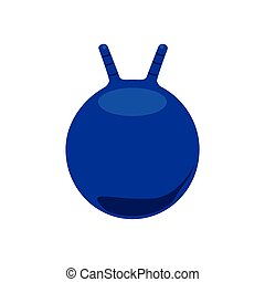 Ball for fitness - Vector illustration blue ball for fitness...