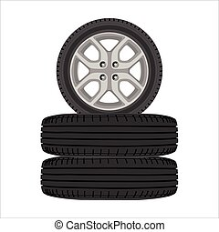 Realistic car wheels