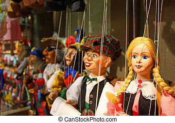 Traditional puppets - the young lady - Traditional puppets...