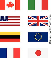 G8 countries flags - Vector illustration g8 countries flags...