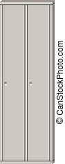 School sport locker - Vector illustration metal school sport...