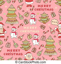 christmas pattern 3 - Christmas vector seamless pattern....