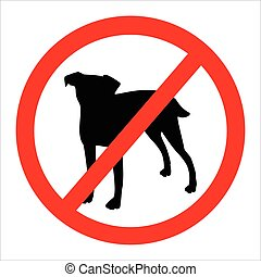 No dog sign - Vector illustration round no dog sign No dog...