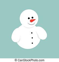 sneeuwpop,  Vector, pictogram