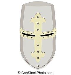 Templar knight helmet - Vector illustration medieval temlar...