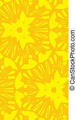 Yellow Starburst Repeating Pattern - Seamless yellow...