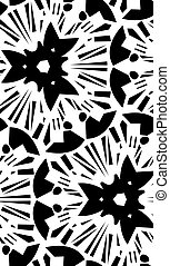 Black Starburst Seamless Pattern - Seamless black star burst...