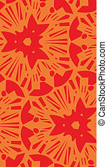 Orange Starburst Repeating Pattern - Repeating orange...