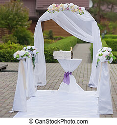 beautiful wedding arch for the ceremony