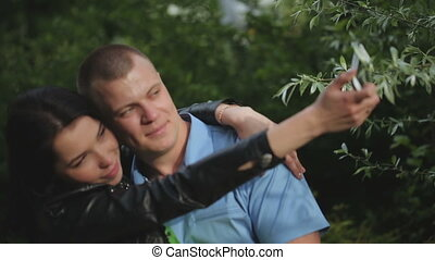 Couple Making a Selfie